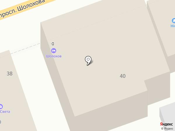 Шолохов на карте Ростова-на-Дону