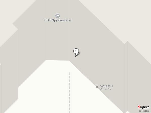 Цветной дым на карте Рязани
