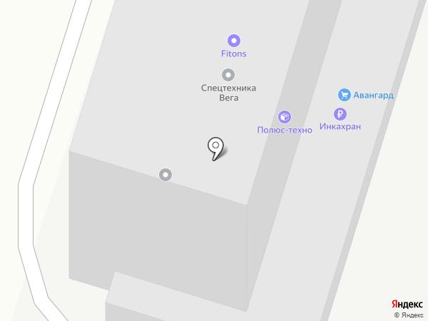Авангард на карте Ростова-на-Дону