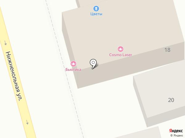 Бьютика на карте Ростова-на-Дону