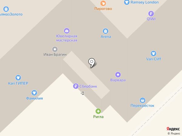 Щит на карте Рязани