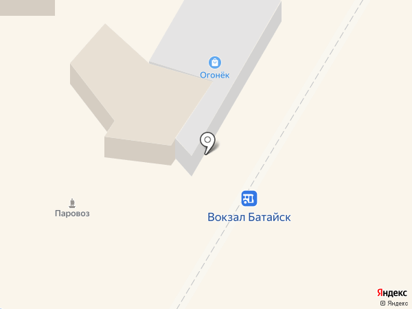 Шарм на карте Батайска