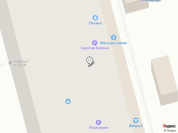 Белвест на карте Рязани