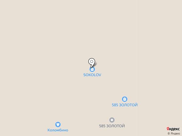 Коломбино на карте Ярославля