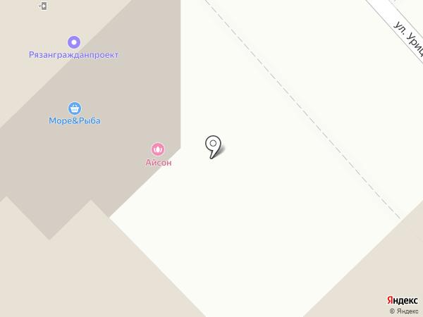 Айсон на карте Рязани
