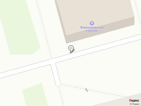 ССК Ворошиловский стрелок на карте Рязани