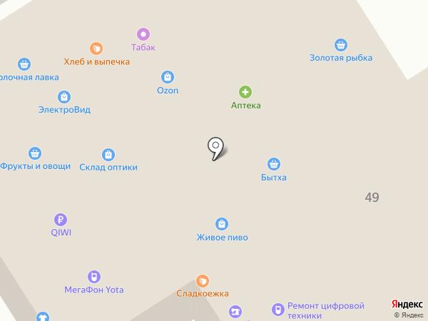 Бытха на карте Сочи