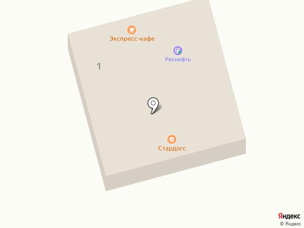 АЗС ТНК на карте Батайска