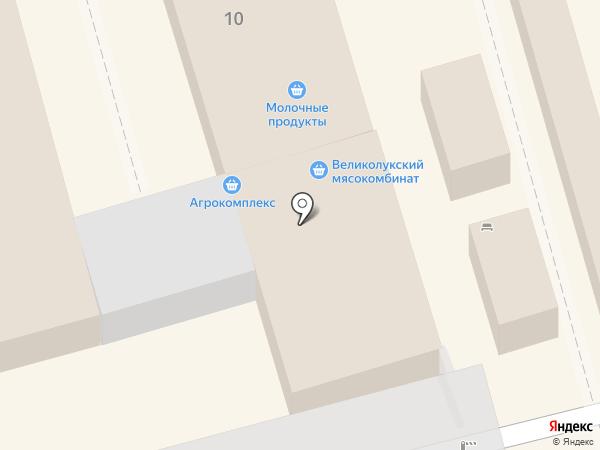 Магазин молочных продуктов на площади Толстого на карте Ростова-на-Дону
