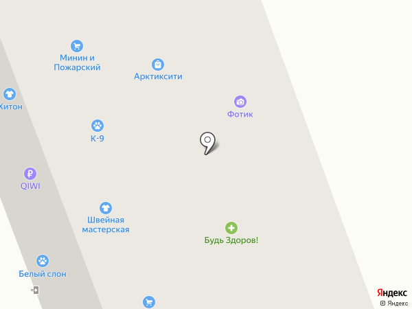 Дисма на карте Северодвинска