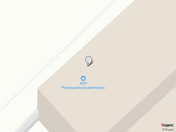 Авангард на карте Рязани