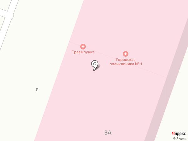 Детская городская поликлиника №1 на карте Ростова-на-Дону
