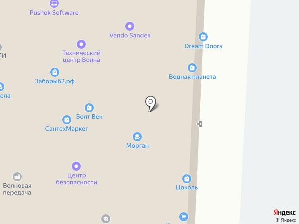 Трезвогруз на карте Рязани