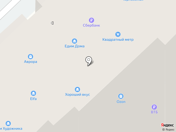 Квадратный метр на карте Рязани