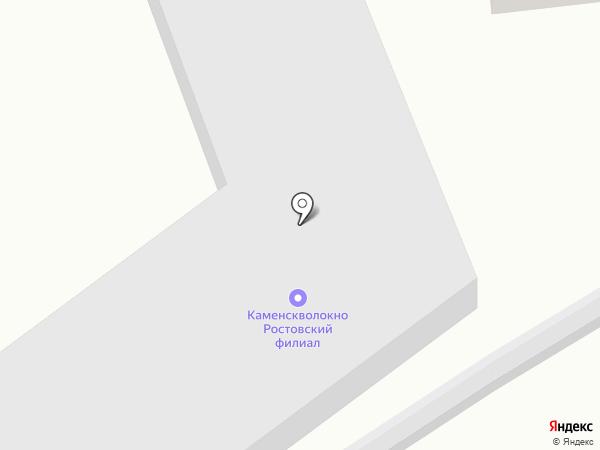 Каменскволокно на карте Ростова-на-Дону