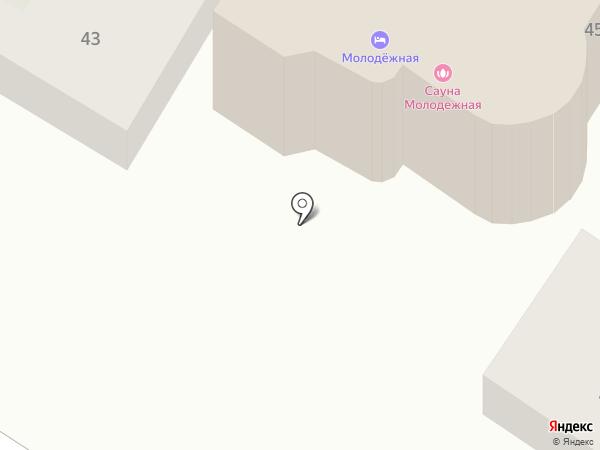 Молодежная на карте Ростова-на-Дону