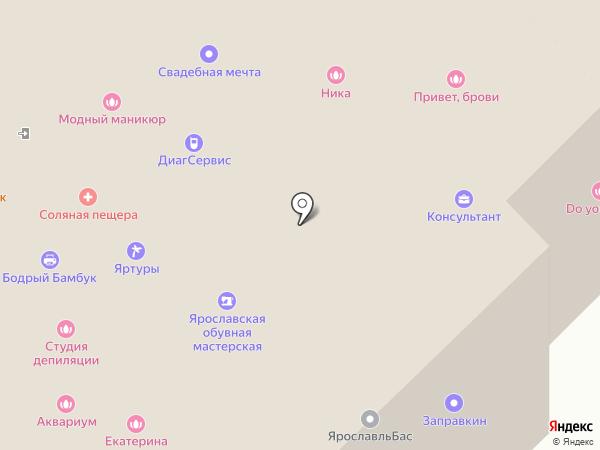 Алькор на карте Ярославля