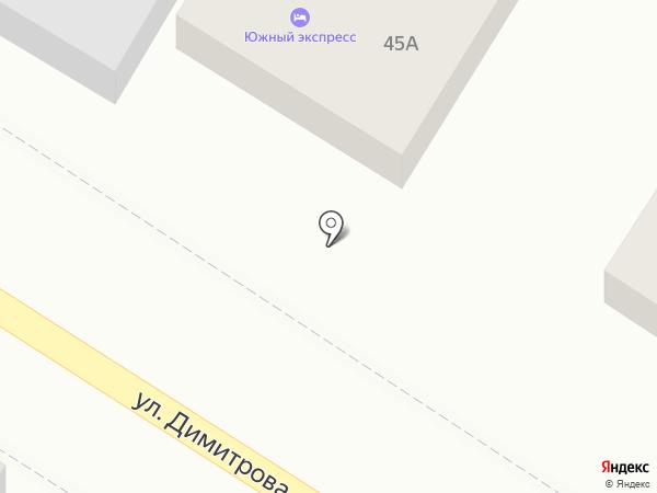 Южный экспресс на карте Ростова-на-Дону