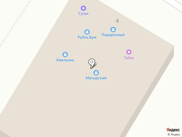 Матырский на карте Липецка