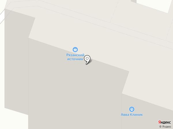 Рязанский источник на карте Рязани