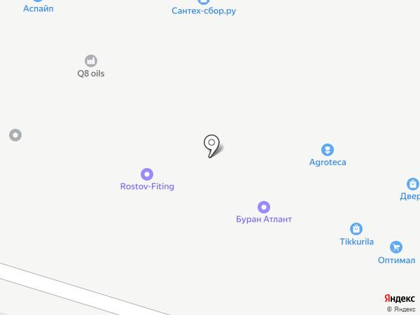 Буран на карте Янтарного