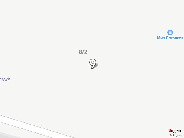 Санпоставка на карте Янтарного