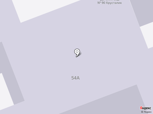 Детский сад №90, Хрусталик на карте Северодвинска
