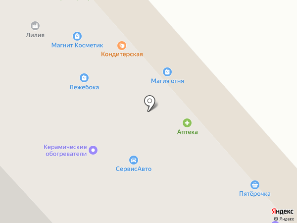 Кервуд на карте Вологды