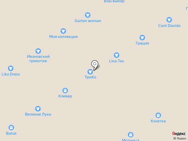 Магазин трикотажных изделий на карте Ярославля