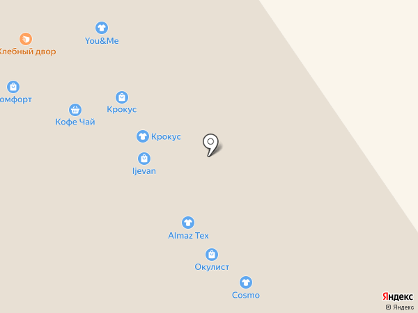 Теплая овечка на карте Ярославля