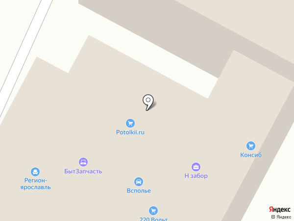 Стройкомплект на карте Ярославля
