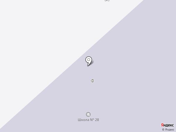 Средняя общеобразовательная школа №28 на карте Вологды