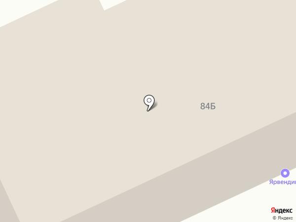 Дизельавтотракт на карте Ярославля