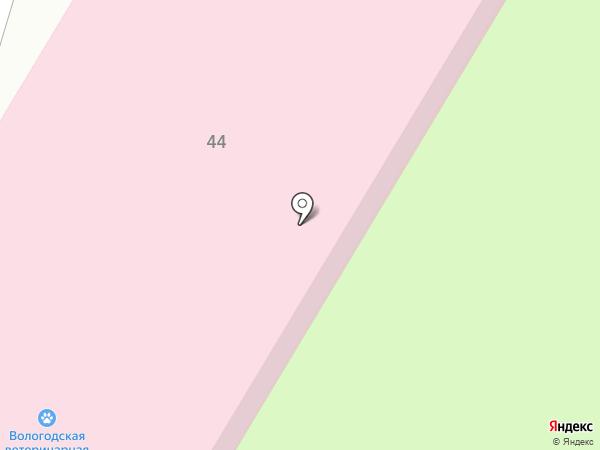 Вологодская областная ветеринарная поликлиника на карте Вологды