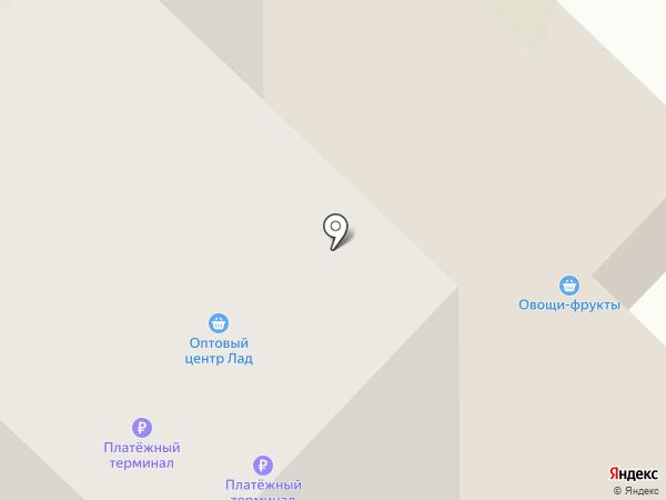 Лад на карте Вологды