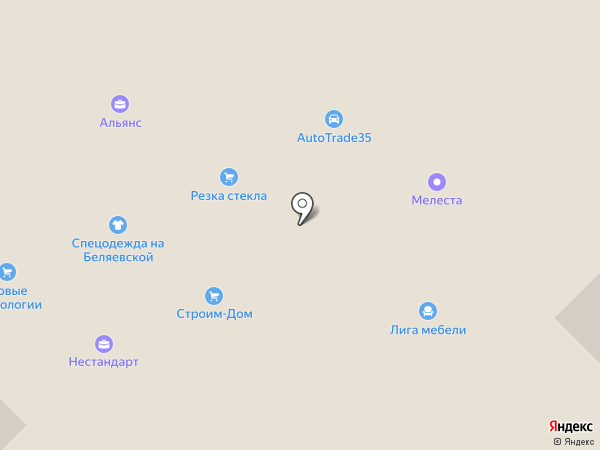 Лангас на карте Вологды