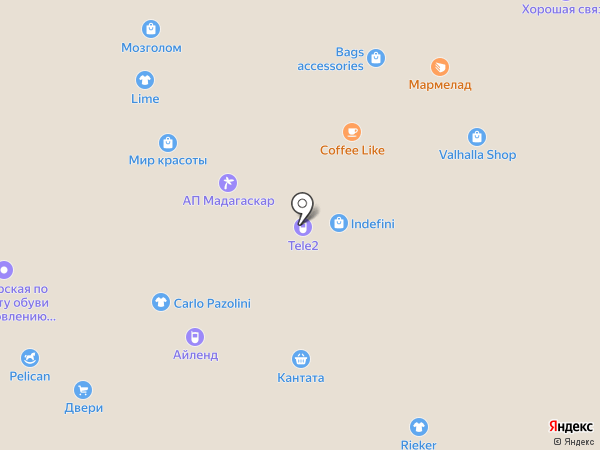 Айленд на карте Вологды