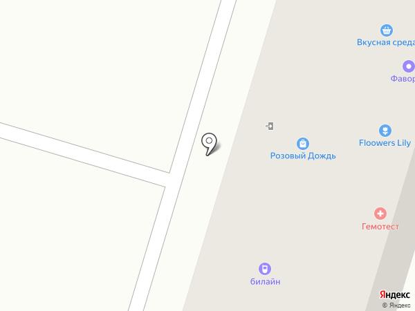 Локон на карте Аксая