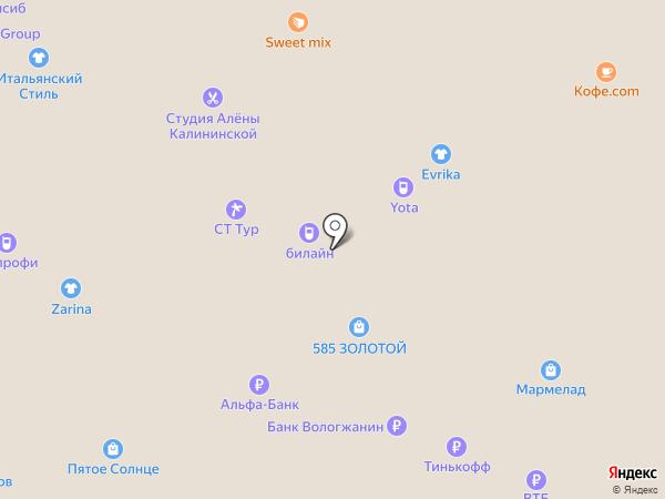 Альянс на карте Вологды