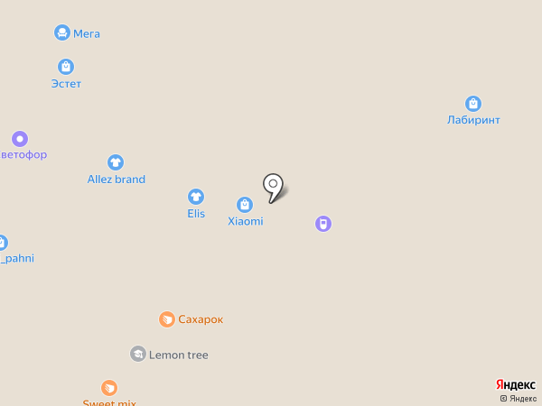 Big Apple на карте Вологды