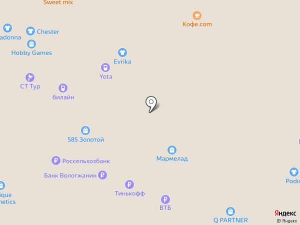 Банкомат, Промсвязьбанк, ПАО на карте Вологды