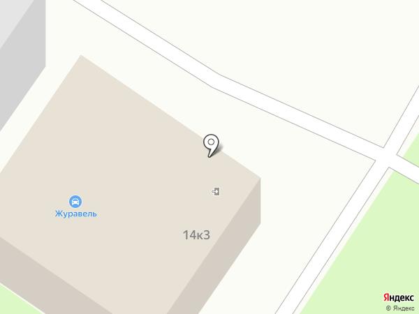 Журавель на карте Вологды