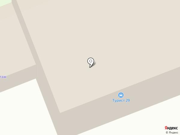 Турист на карте Северодвинска