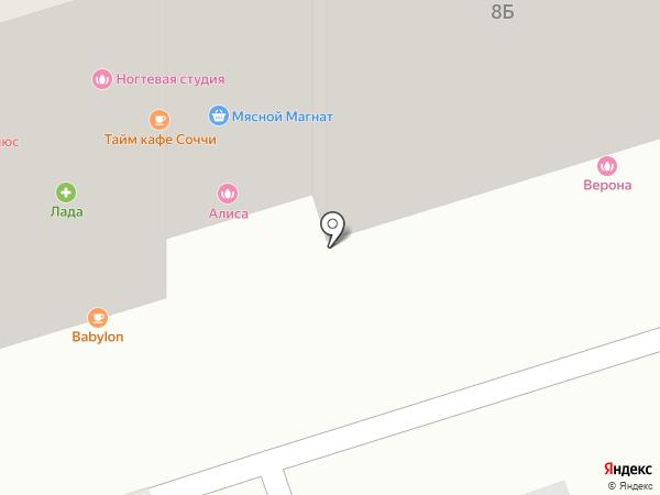 Верона на карте Аксая