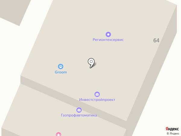 Автостоянка на Благовещенской на карте Вологды