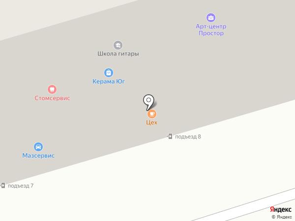 Фаворит-Юг на карте Аксая