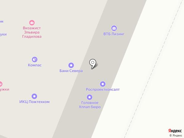 Кураж на карте Вологды
