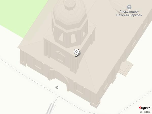 Храм Святого Благоверного князя Александра Невского на карте Вологды