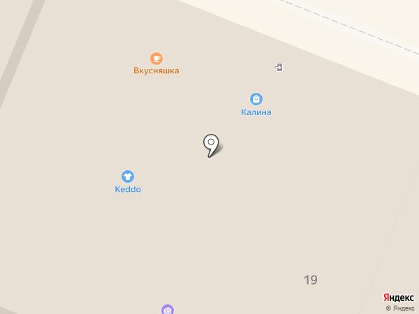 Калина на карте Вологды