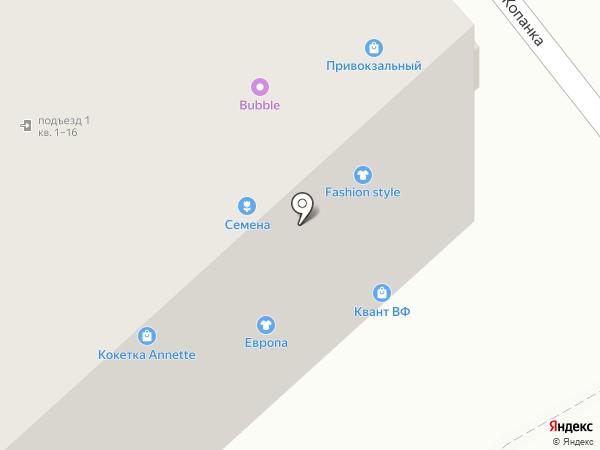Вологодские семена на карте Вологды